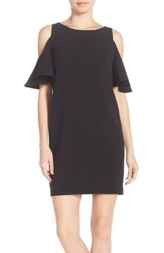Chelsea28 'Peek-A-Boo' Cold Shoulder Shift Dress available at #Nordstrom