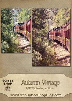 Free Autumn Vintage Photoshop/Photoshop Elements action and texture tutorial!