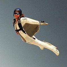 Human Flying squirrel... looks totally cool. whether i'd actually do it... uh idk