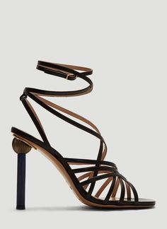 Jacquemus Les Sandales Pisa in Black Shoe Sale, Pisa, Open Toe, Smooth, Construction, Glamour, Inspired, Heels, Leather