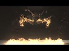 Fire Flight - Phoenix Dance Theatre - (1000fps Super Slow Motion Flaming Dancers) - Klaypex Gamefire