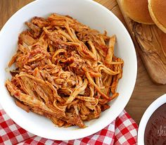 List of 25of the best recipe blogs,  Slow-cooker pulled pork from Skinnytaste
