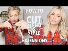 Get these clip ins >>> https://www.glamseamless.com/collections/clip-in-hair-extensions/products/ash-blonde-clip-in-hair-extensions?variant=345107443 | How to Cut, Blend and Style Hair Extensions - YouTube