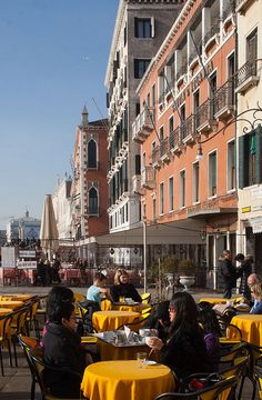 Harbour cafe,Venice,Italy