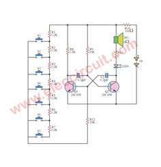 3 led flasher circuit using astable multivibrator eleccircuit com rh pinterest com