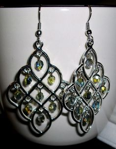 Faceted Chandelier Earrings by mwadsworth on Etsy, $7.50