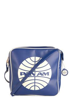 Pan Am Cabin Bag. Whether you're flying the friendly skies or off running errands, this vintage airline cabin bag will make any outfit look first class! #blue #modcloth