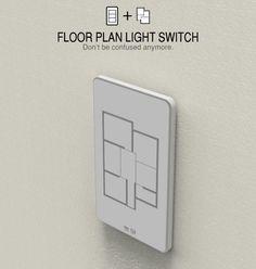 O mais moderno interruptor de luz da planta baixa de sua residência para pessoas preguiçosas com casas grandes.