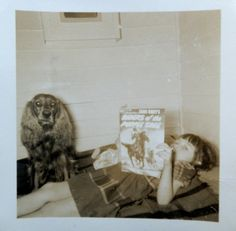 Kid Reading Comic Book, Circa 1952