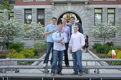 Reunion 2012: Class of 2007 Clarkies in front of Jonas Clark Hall.  https://clarkconnect.clarku.edu/JCTwitter