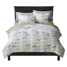 gray and green bedding   green/grey leaves bedding via target   Apartment