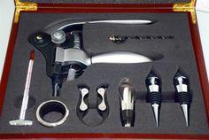 deluxe-large-wooden-box-WINE-OPENER-SET-corkscrew-bottle-8-piece-NEW