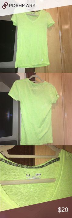 UNDER ARMOR TOP Neon green top Tops Tees - Short Sleeve