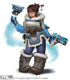 Overwatch Mei fan art by Overwatch Mei, Overwatch Fan Art, Character Concept, Character Design, Character Inspiration, Concept Art, Style Inspiration, Mei Ling Zhou, Chinese New Year Outfit