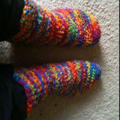 2 needle knit tube socks http://gailbable.tripod.com/id34.html