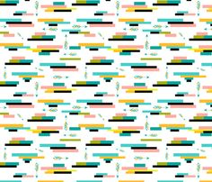 Tribal Horizontal Geometric custom fabric by ktalent for sale on Spoonflower Pow Wow Party, Geometric Fabric, Arrows, Custom Fabric, Spoonflower, Craft Projects, Fabrics, Colorful, Quilts