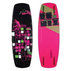 Ronix Quarter Til Midnight Wakeboard 2012. My board a pretty fat ride! A little slower due to the width but has a rad rail on it