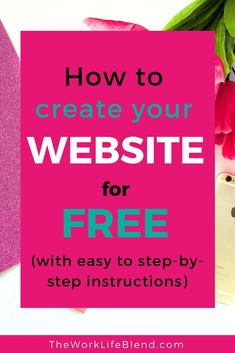 How to make a website with WordPress with easy step by step instructions. If you're not sure how to set up a business website or think it will cost a fortune have a read of this. You can start a website in under an hour and WordPress is free! Making Your Own Website, Start A Website, Create Your Own Website, How To Start A Blog, E Tattoo, Website Design Inspiration, Business Website, Online Business, Make Money Blogging