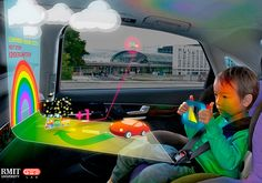 if this doesn't keep the kids entertained it oughta be a solid for at least freaking them out! - Holographic In Car Entertainment by GEElab Holographic Car, Holographic Displays, Hologram, Techno Gadgets, Computer Basics, Ares, Car Travel, Back Seat, Entertainment System