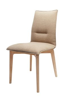 S61 chair designed by Klose. 4 options of stitching through backrest (purchasable version with wooden handpiece). #KloseFurniture #modernchair