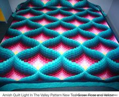 Amish Light in the Valley Quilt Pattern Find this Pin and more on Bargello. light in the valley quilt pattern Not a direct link, Search for it: Crochet Afghan Pattern: Pyramid Afghan Crochet Afghan Pattern: Pyramid Afghan - Can't find pattern, but would l