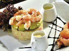 Timbal de quinoa y camarón