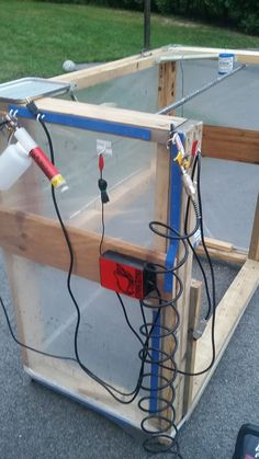 DIY Powder coating spray booth. Learn to powder coat at http://www.powdercoatguide.com/