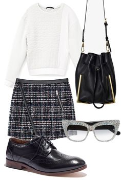 Brogues outfit for a totally preppy look. Cute.