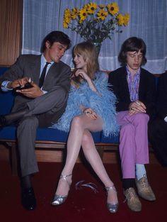 Alain Delon, Marianne Faithfull i Mick Jagger