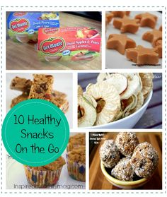 10 healthy snacks on the go kids Love! both homemade & packaged ideas #SmartSnacks