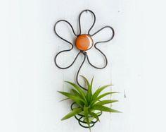 Vitrail plante d'Air porte Mod Trio avec menthe par glassetc