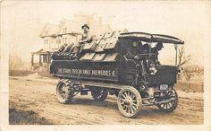 New Philadelphia OH Stark-Tuscarawas Breweries Truck 1911 RPPC Postcard