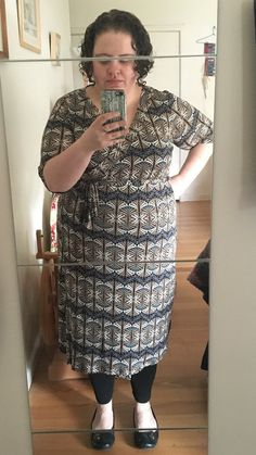 Love this pattern from Cashmerette - the Appleton Dress. My measurements: 50-44-52. Cut a size 22 C/D with no alterations or mods and I'm really happy with how it fits.