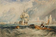 After Joseph Mallord William TurnerGosport, Entrance to Portsmouth Harbour 1831