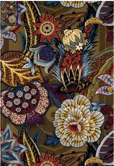 Contemporary version of Jacobean style print
