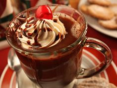 Black Forest Coffee - perfect for those who can't resist the combo of chocolate, cherries and whipped cream #coffee #drink #chocolate