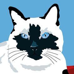 Siamese Cat print, 9 x 12.5