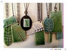 Leaf necklaces by evinglenside, via Flickr