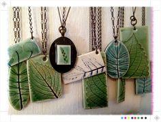 Leaf necklaces by Evelyn Taylor, via Flickr