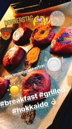 Breakfast: grilled Hokkaido Kürbis