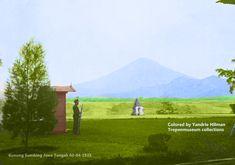 Pemandangan Gunung Sumbing dilihat dari rumah Bupati Magelang, Jawa Tenga. Tanggal 03-04-1935.
