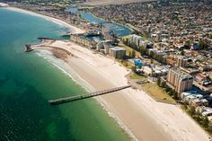 Glenelg, South Australia - we're down there somewhere! Great Places, Places To See, Places Ive Been, Beautiful Places, Adelaide Hotels, City Of Adelaide, Melbourne, Brisbane, Tasmania