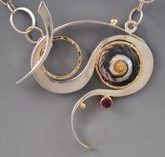 Jersey snail toggle necklace