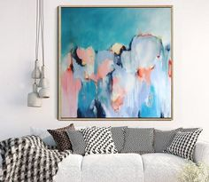 Large Abstract Painting, Original Artwork, Abstract Art, Abstract Canvas Painting, Square Painting, FREE SHIPPING