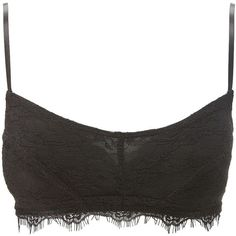 Charlotte Russe Black Eyelash Lace Bralette by Charlotte Russe at... ($10) ❤ liked on Polyvore featuring black and charlotte russe