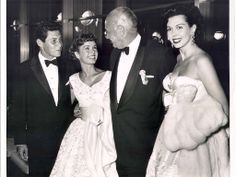 Eddie Fisher and Debbie Reynolds, left, were among the celebrities who attended the Beverly Hilton's opening gala in 1955.