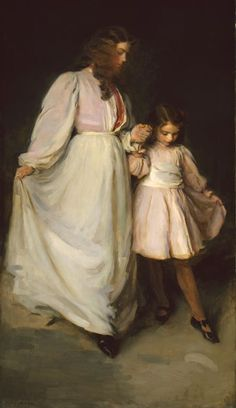 Dorothea and Francesca - cecilia beaux - 1898 - art institute of chicago.  when i was a little girl, i used to park myself in front of this painting and refuse to move until i got my fill. i still visit it everytime i'm there.