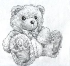 I saw a tiny pic of a teddy bear in my algebra book on a day that I was in a pencil drawing mood. I couldn't find anything else that wanted to be drawn so I sat in my room for a few hours with my m...
