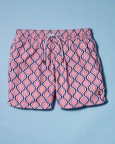 1c36301e660 Retromarine pink mistery swim trunks Summer Outfits Men