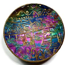 Egyptian Motif Ring Holder polymer clay Ring Dish Christmas  #gifts #etsy #art #christmas